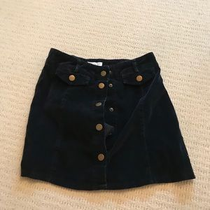 navy skirt from urban outfitters